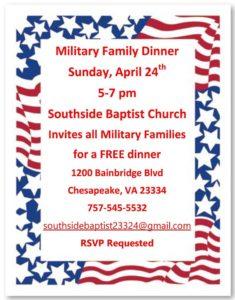 southside church military family dinner